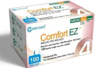 Comfort EZ Insulin Pen Needles, 32G 4mm - 100 per Box