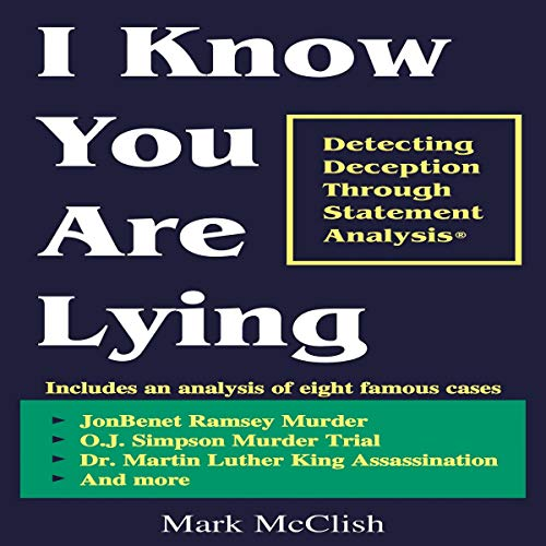 I Know You Are Lying audiobook cover art