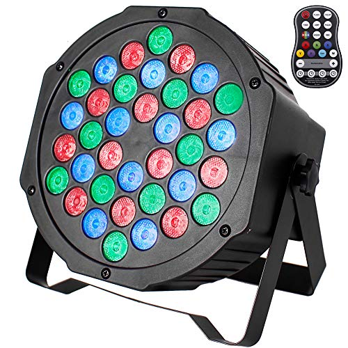 Wireless Stage Lights U`King RGB 36 LED Battery Powered Par Can Uplights...