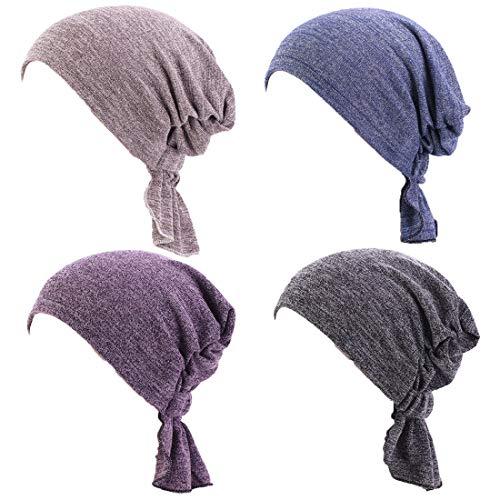 Joyfeel's Store chemothermische beanies sjaal voor patiënten met kanker, 4 stuks