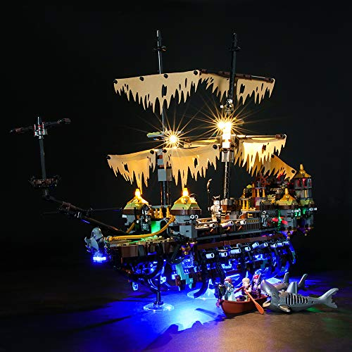LIGHTAILING Licht-Set Für (Disney Pirates of The Caribbean Silent Mary) Modell - LED Licht-Set Kompatibel Mit Lego 71042(Modell Nicht Enthalten)