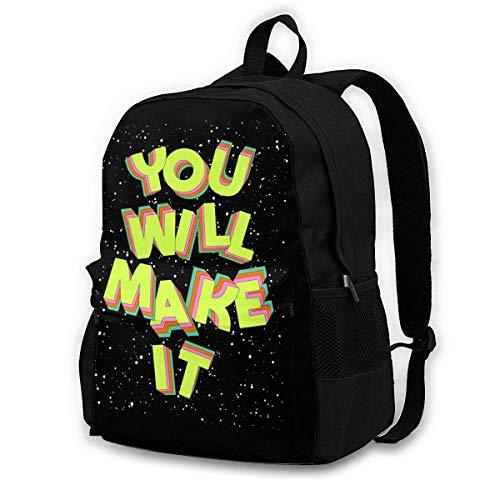 FGHJY Sie Werden es wecken Grafik Rucksack College School Reisetasche für Kinder Jugendliche und Erwachsene 15 '' Laptop