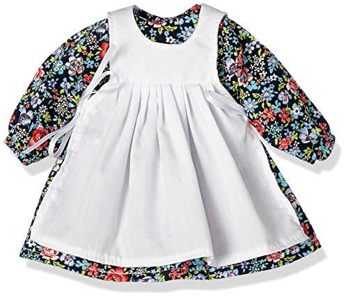 Poppenmode storm 8836-1 jurk met witte schort voor poppen