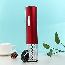 Fournitures de cuisine d'ouvre-bouteille automatique rechargeable pour les bouchons en bois pour sommelier(Red matte bone ...