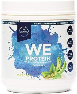 WE PROTEIN Proteína Vegetal Orgánica en Polvo White Elephant adicionada con probióticos y enzimas digestivas, 500Gr Sabor ...