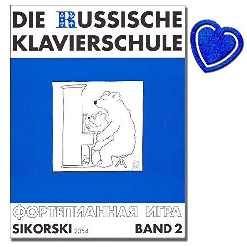 Die Russische Klavierschule Band 2 - Reihe: Russische Musik der Moderne - Komponist: Alexander Nikolajew - Herausgeber: Suslin, Julia - (mit bunter herzförmiger Notenklammer)