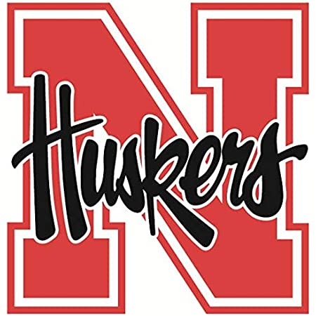 6 Inch Huskers Football Helmet University of Nebraska NU Cornhuskers Logo Removable Wall Decal Sticker Art NCAA Home Room Decor 6 by 5 Inches
