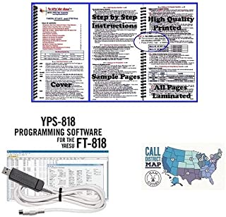Yaesu FT-818 Accessory Bundle - 3 Items - Includes RT Systems Programming Software/Cable Kit, Nifty! Accessories Mini-Manual, and Ham Guides TM Quick Reference Card