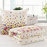 Reisekissen Kissendecke Quilt Klimaanlage Decke Faltbare Patchwork Quilt-Decke Nackenhörnchen HUYP