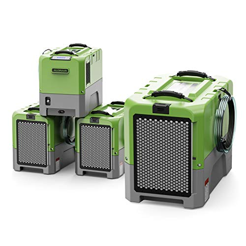 AlorAir Storm LGR Extreme Commercial Water Damage Restoration Industrial LGR Dehumidifier for Flood Repair, Built-in Pump, cETL, 85 Pints, 13.4 Gallons a Day- Green (4)