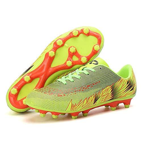 Botas Fútbol Chico Picos Fútbol Zapatos Fútbol para Niños Botas Fútbol para Niños Clases Zapatos Entrenamiento Profesional Zapatillas Deporte Zapatillas Deporte Unisex VIIPOO, Green 1-45EU
