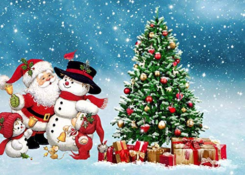 CAFO 1000Pcs Educational game jigsaw puzzle Santa Snowman Christmas Tree chase after girls the Props wooden Puzzle