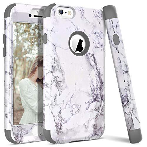 WE LOVE CASE Funda iPhone 6, Rígida Diseño Hard Cáscara Bumper Dura Funda iPhone 6 Caso Ultra Delgado Funda iPhone 6S Cubierta de Protección Heavy Duty Funda iPhone 6 iPhone 6S Gris