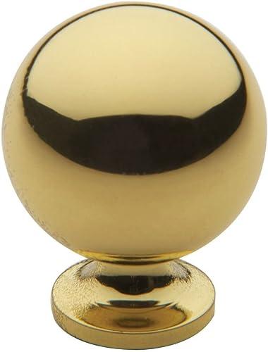 2021 Baldwin 4960030 Round Cabinet outlet online sale Knob in Bright 2021 Brass online