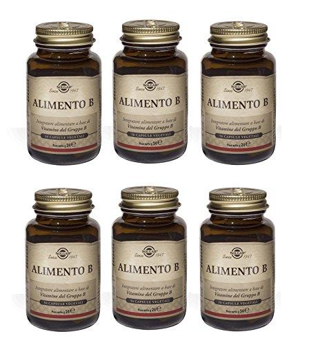 SOLGAR - ALIMENTO B 6 CONFEZIONI DA 50 TAVOLETTE-Integratore alimentare a base di Vitamine del Gruppo B (B1, B2, B3, B6, B8, B12) - [KIT CON SAPONETTA NATURALE]