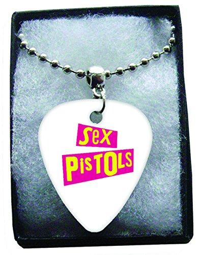 Sex Pistols Logo Metal Púa Para Guitarra Collar Necklace