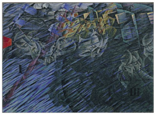 """Artopweb BOCCIONI - States of Mind II (Decorative Panel 31.5x23 inches), 31.5"""" x 23"""""""
