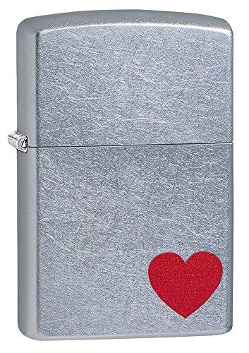 Officiële liefde hart Street Chrome Zippo Wind bestendige aansteker - verpakt geschenk