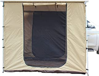 DANCHEL OUTDOOR 420D オックスフォード サイドオーニング カーダンジェル屋外用オーニング 車の屋根トップテントのチェンジルーム付き 6.7x6.7ft Aning+Roof car