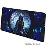ASDFGH Tappetino XXL per Mouse e PC Gaming Mouse Pad Grande Tappetino Mouse Mass Effect Tastiera del Gioco Mat Mat Cafe XXL estesa Mousepad for Computer PC Mouse Pad (Color : D, Size : 900×400×3mm)