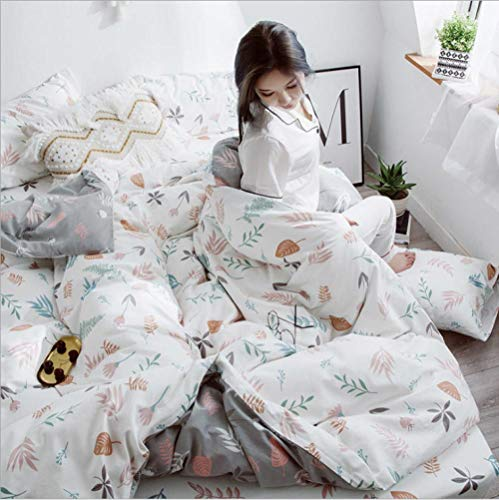 IRCATH Extra Soft Bedding Set Diep - Katoen schuren vierdelig eenvoudig beddengoed/bed vierdelig katoen Dora Garden