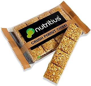 Nutritius Crush Peanut Chikki, 125g (10 Packs) - Family Pack