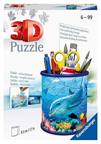 Ravensburger 3D Puzzle 11176 - Utensilo Unterwasserwelt - 54 Teile - Stiftehalter für Tierliebhaber ab 6 Jahren, Schreibtisch-Organizer für Kinder