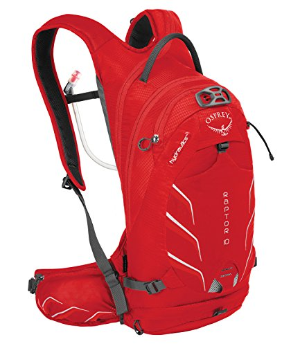 Osprey Men's Raptor 10 Backpack, Red Pepper, 45 x 22 x 19 cm, 10 Liter
