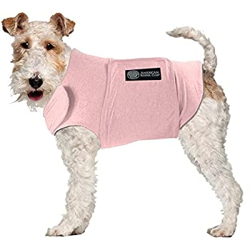 American Kennel Club Anti Anxiety and Stress Relief Calming Coat for Dogs Extra Large Pink