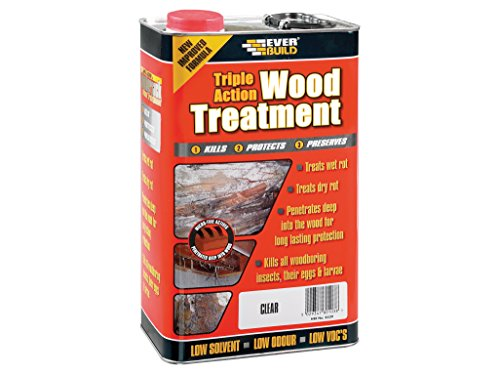 Sika EVBLJUN01 Triple Action Wood Treatment 1 Litre, Clear