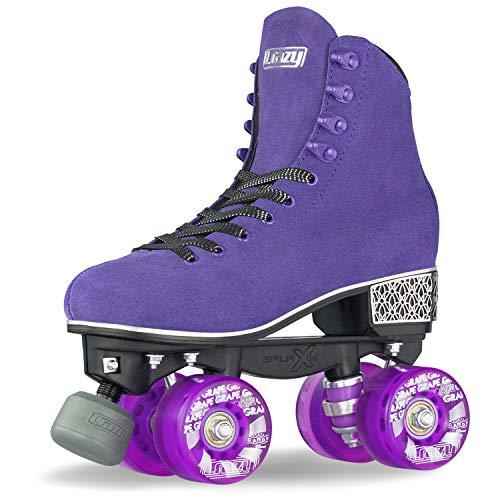 Crazy Skates Evoke Roller Skates for Women - Stylish Suede Quad Skates - Purple (Size 11)