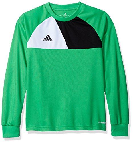 adidas Youth Soccer Assita 17 Goalkeeper Jersey, Energy Green/Vista Grey, Medium