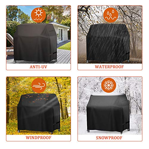 Electric Smoker Cover,king do way BBQ Cover,Square Smoker Cover 420D Heavy Duty Barbecue Cover,BBQ Outdoor Grill Covers…
