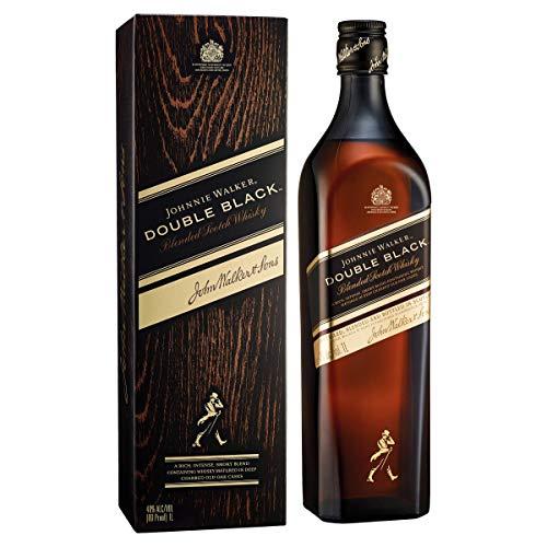 JohnnieWalkerDoubleBlack Label Blended Scotch Whisky – Schottischer Whisky aus den vier Ecken Schottlands direkt ins Glas – In edler Geschenkverpackung – 1 x 0,7l