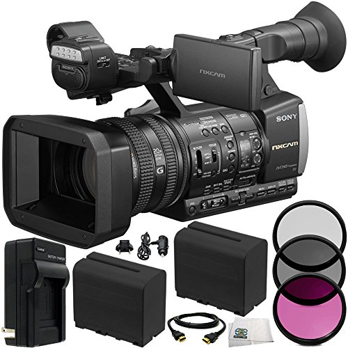 Sony HXR-NX3/1 NXCAM Camcorder 10PC Accessory Kit Includes 3PC Filter Kit (UV-CPL-FLD) + 2 Replacement F970 Batteries + AC/DC Rapid Home & Travel Charger + HDMI Cable + Microfiber Cleaning Cloth