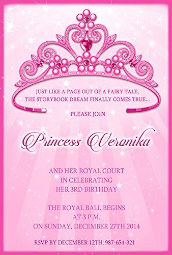 10 x Princesse personnalisé enfants Fête d'anniversaire Invitations ou cartes de remerciement