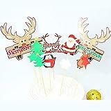 N/ A Tarjeta De Navidad De La Torta Decoraciones, Cinta Creativo Decoración Hornear Topper Plugin, Suministros De Navidad La Fiesta De Cumpleaños De La Placa Ciervos