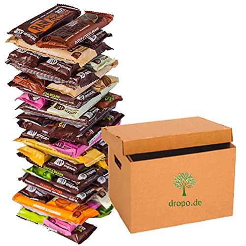 Bombus Mystery Box 40 Vegane Protein und Fitness Riegel Glutenfrei Ohne Zuckerzusatz (2kg)