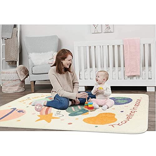 SHACOS Alfombra de Juegos Antideslizante Lavable Alfombra Infantil Habitación Estera de Juego Niños Niñas Tapete de Juegos Bebé Suave Alfombra 140x200cm