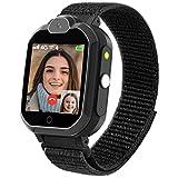 PTHTECHUS Smartwatch Bambini con Bluetooth - 4G WIFI GPS Orologio Intelligente per Ragazza e Ragazzo Touchscreen con Lettore Musicale, Video Chiamata, Torcia, per Bambino 6-12 Anni Regalo