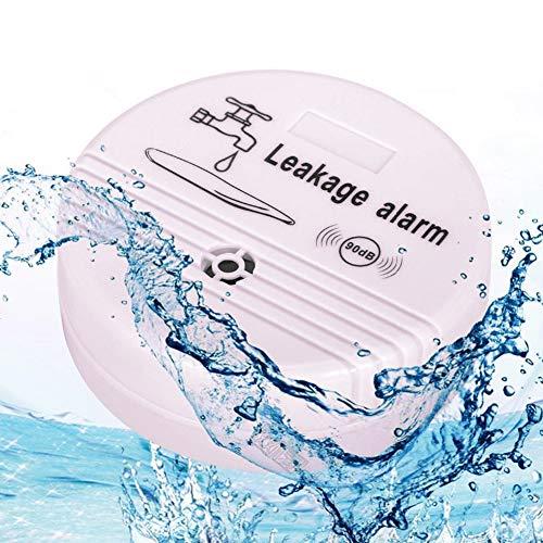 Wasserdichtigkeitsmelder, automatischer Leckwasser-Alarm, Haus-Sicherheitsmesser, kabelloser Detektor Sensor, praktisch für den Haushalt Free Size weiß
