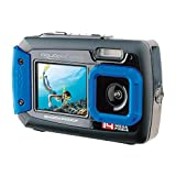 Aquapix W1400 Active Iceblue Unterwasser-Digitalkamera (14 Megapixel, 6,8 cm (2,7 Zoll)...