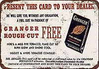 S-RONG雑貨屋 Granger Pipe Tobacco ブリキブリキ 看板レトロ デザイン 30x40cm