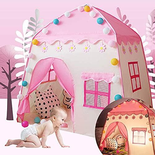 ADDG Tipi Camping Zelt für Kinder Spielzeug Home Junge Mädchen mit Aufbewahrungstasche Schlafzimmerdekoration mit Vorhangentwurf