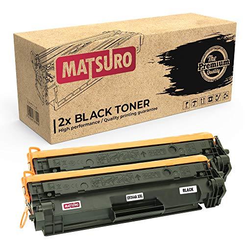 Matsuro Original | Compatible Cartucho de Toner Reemplazo para HP CF244A 44A XXL (2 Negro)
