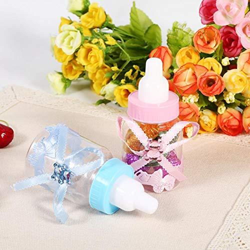 Botella de Caramelo, Botella de Regalo de 2 Colores para Fiesta de Bienvenida al bebé(30.00 * 26.00 * 10.00cm-Blue)