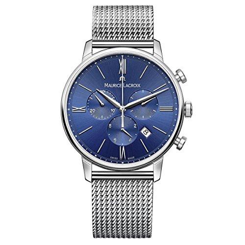 Maurice Lacroix Herren Chronograph Quarz Uhr mit Edelstahl Armband EL1098-SS002-410-1
