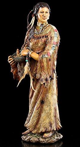 Indianer Figur groß 49,5 cm - Indianerin Amitola