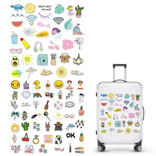 BOROMI Stickers Aesthetic, Paquete de Pegatinas, 82 Piezas Pegatinas Creativas de PVC de Dibujos Animados Estéticos para Patinetas, Ordenadores Portátiles, Tazas, Maletas, Bicicletas