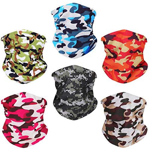 Toes Home 6PCS Outdoor Magic Headband Elastic Seamless Bandana Neck Gaiter Scarf...